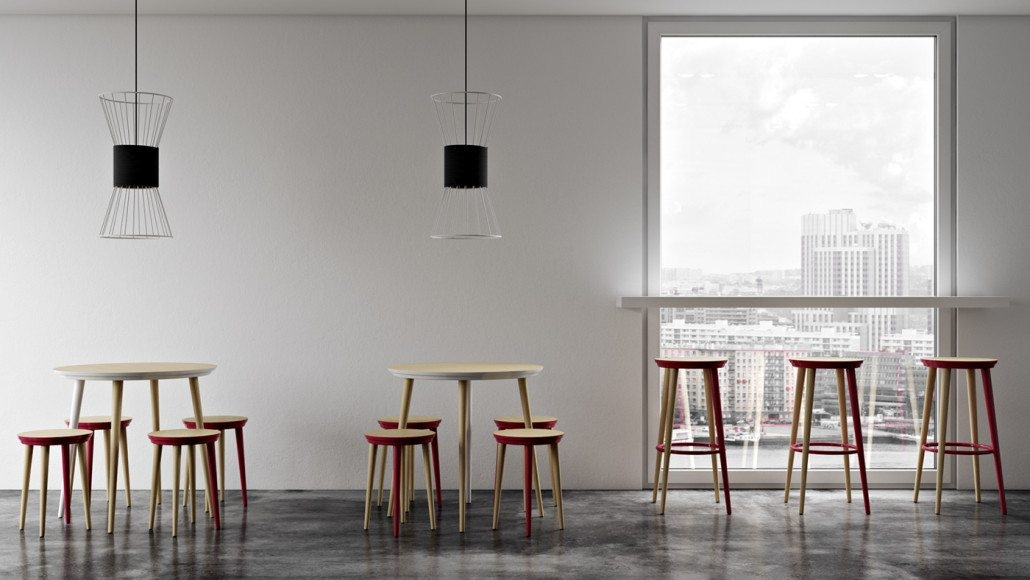 A Scale Lifestyle Shot for Different Sized Stools