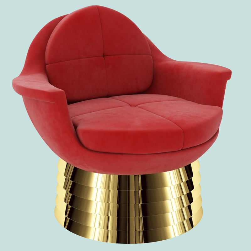 Padded Chair red by Troy Smith