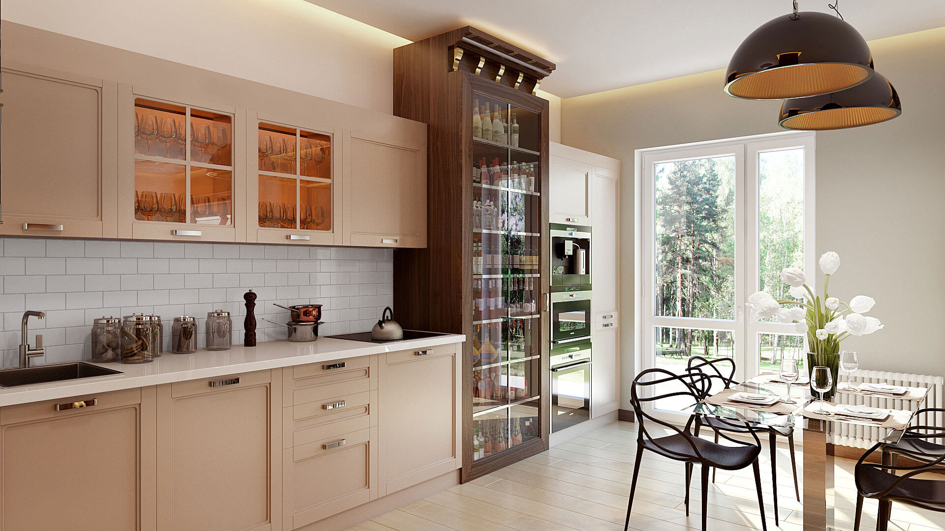Stylish Kitchen 3D Product Rendering