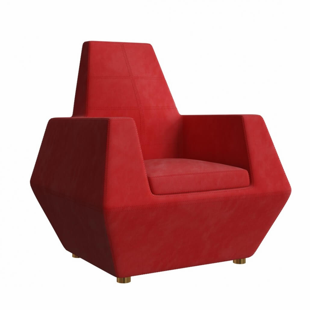3D Product Rendering for an Armchair