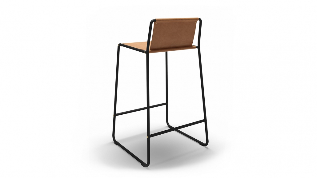 High-Quality 3D Visualization for a Chair on the White Background