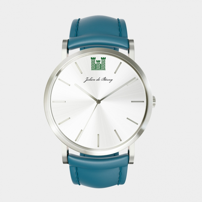 3D Visualization for a Turquoise Watch
