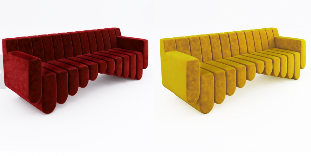 Top-Notch 3D Materials for a Designer Sofa