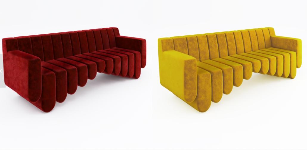 Top-Notch 3D Materials for a Designer Sofa