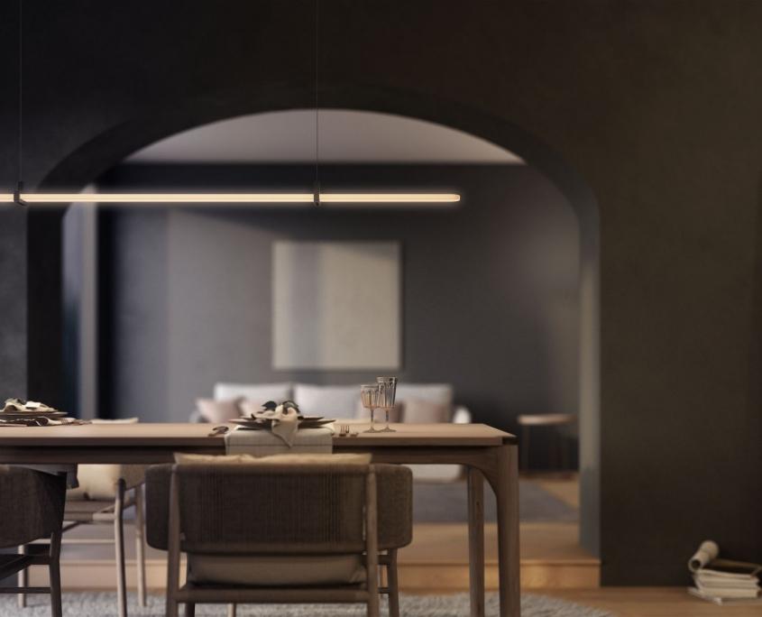 3D Rendering of the Minimalist Kitchen