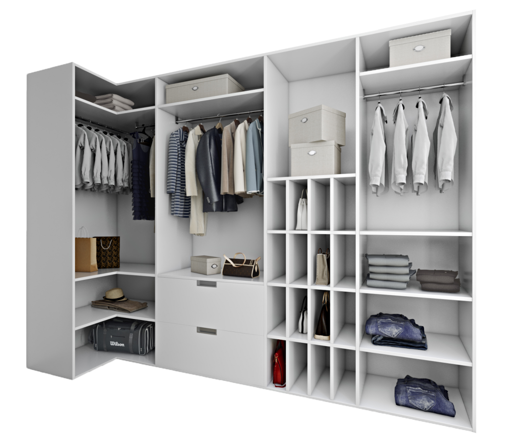 Photorealistic 3D Rendering for a Wardrobe Design