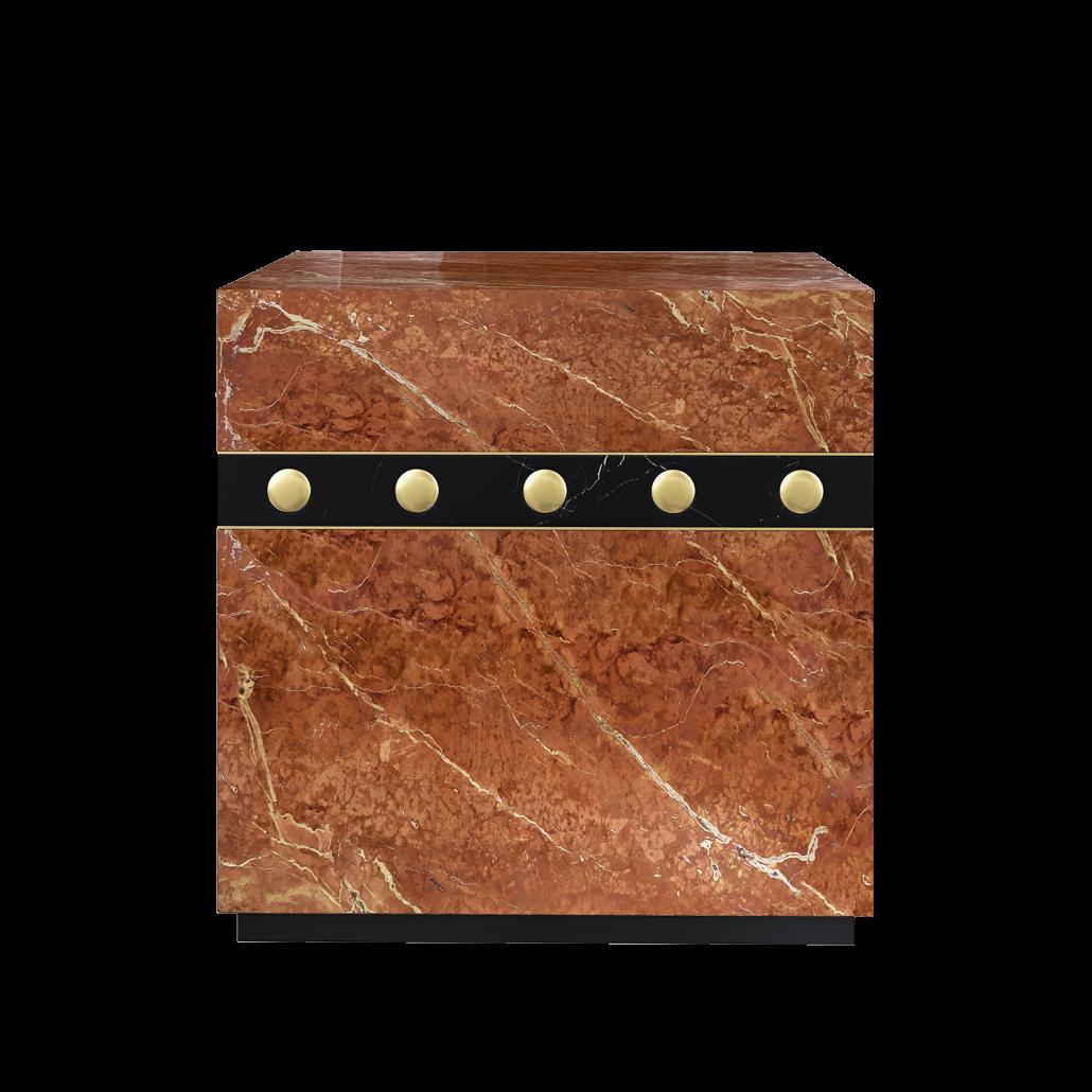 Brown Side Table 3D Rendering