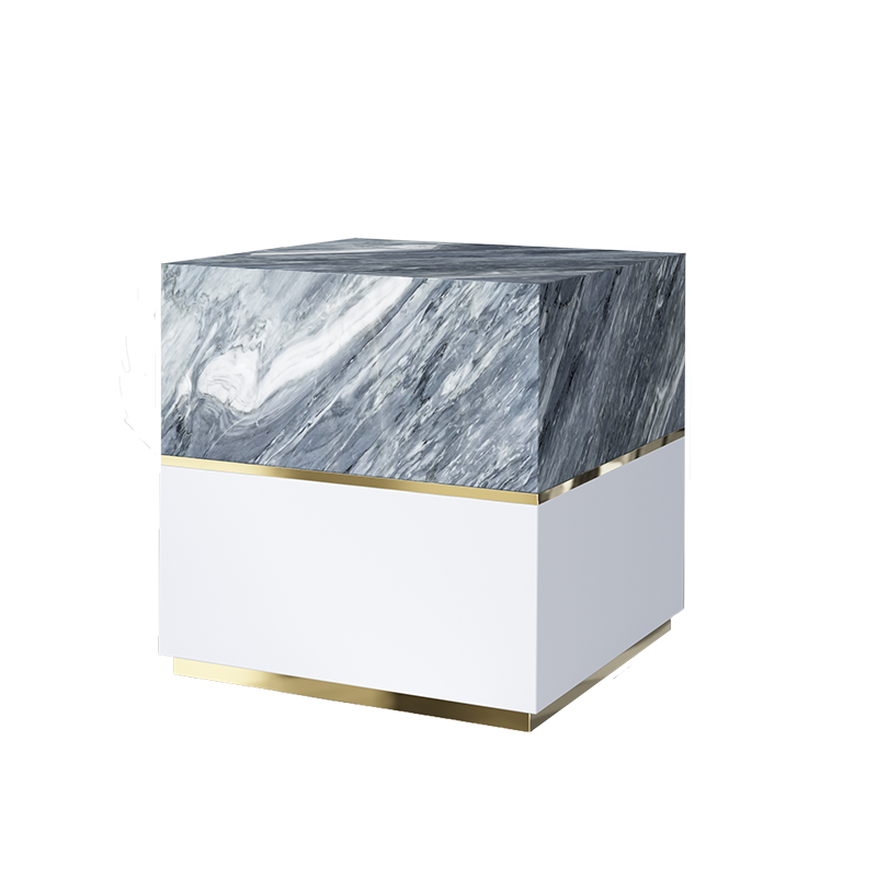 Marble Dover Side Table 3D Rendering