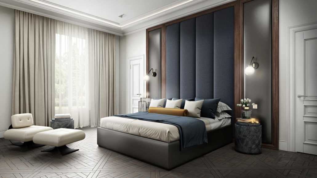 High-Quality 3D Visualization for Bedroom Furniture