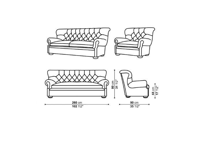 Wireframe Model Drawing for Soft Furniture