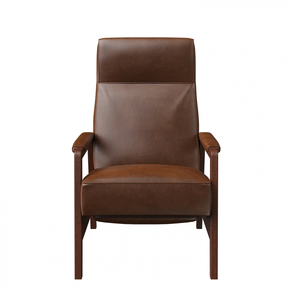 A-Class 3D Rendering for a Brown Leather Chair