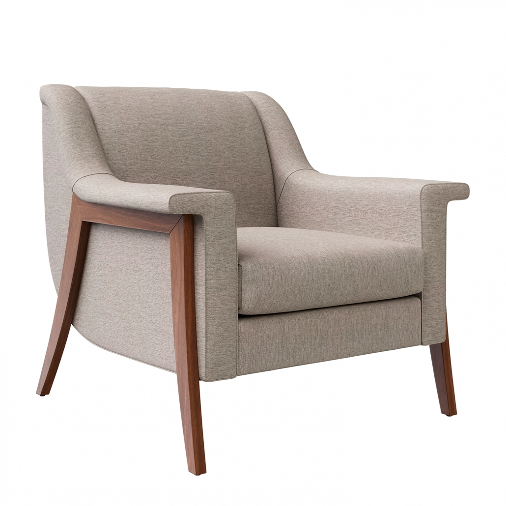 White Background Image for a Chair