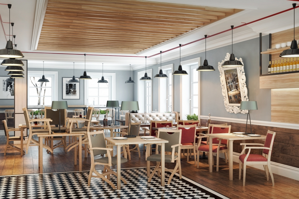 Wooden Chairs for a Stylish Restaurant