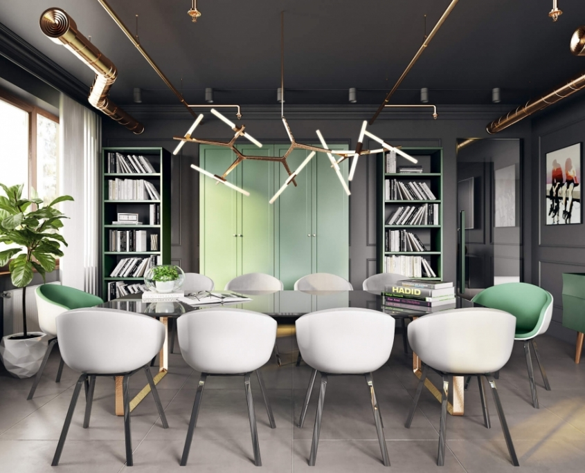3D Decor Elements for a Dining Room Interior Scene