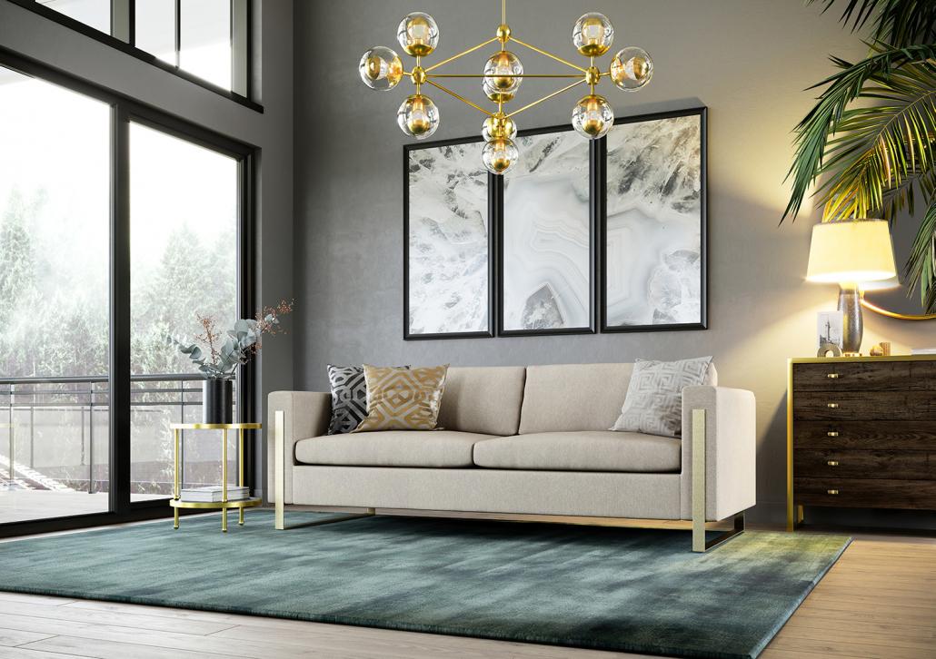 Photorealistic Living Room Furniture Rendering