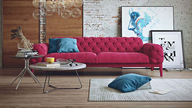 Creative Design for a Pink Sofa