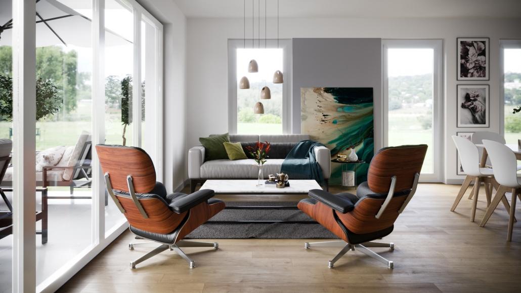 Living Room Furniture Rendering