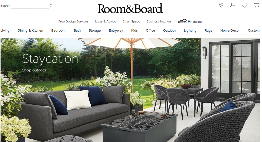 Room and Board Website