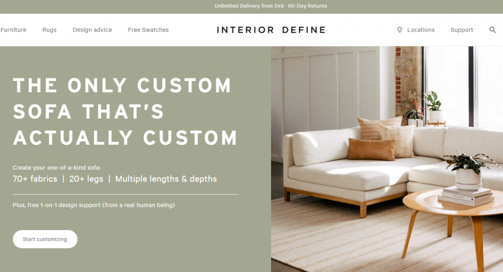 Interior Define Ecommerce Platform
