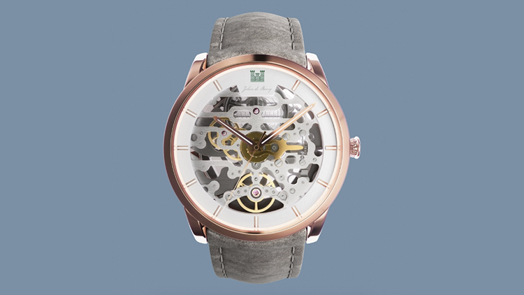 photorealistic visualization of a watch