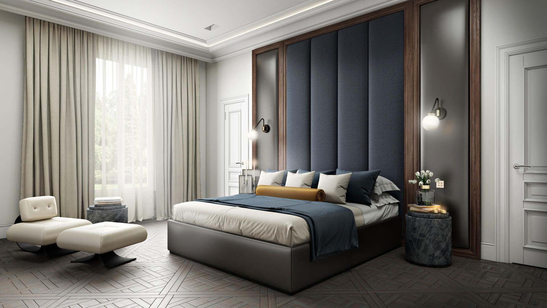 3D Models Created for a Bedroom Furniture