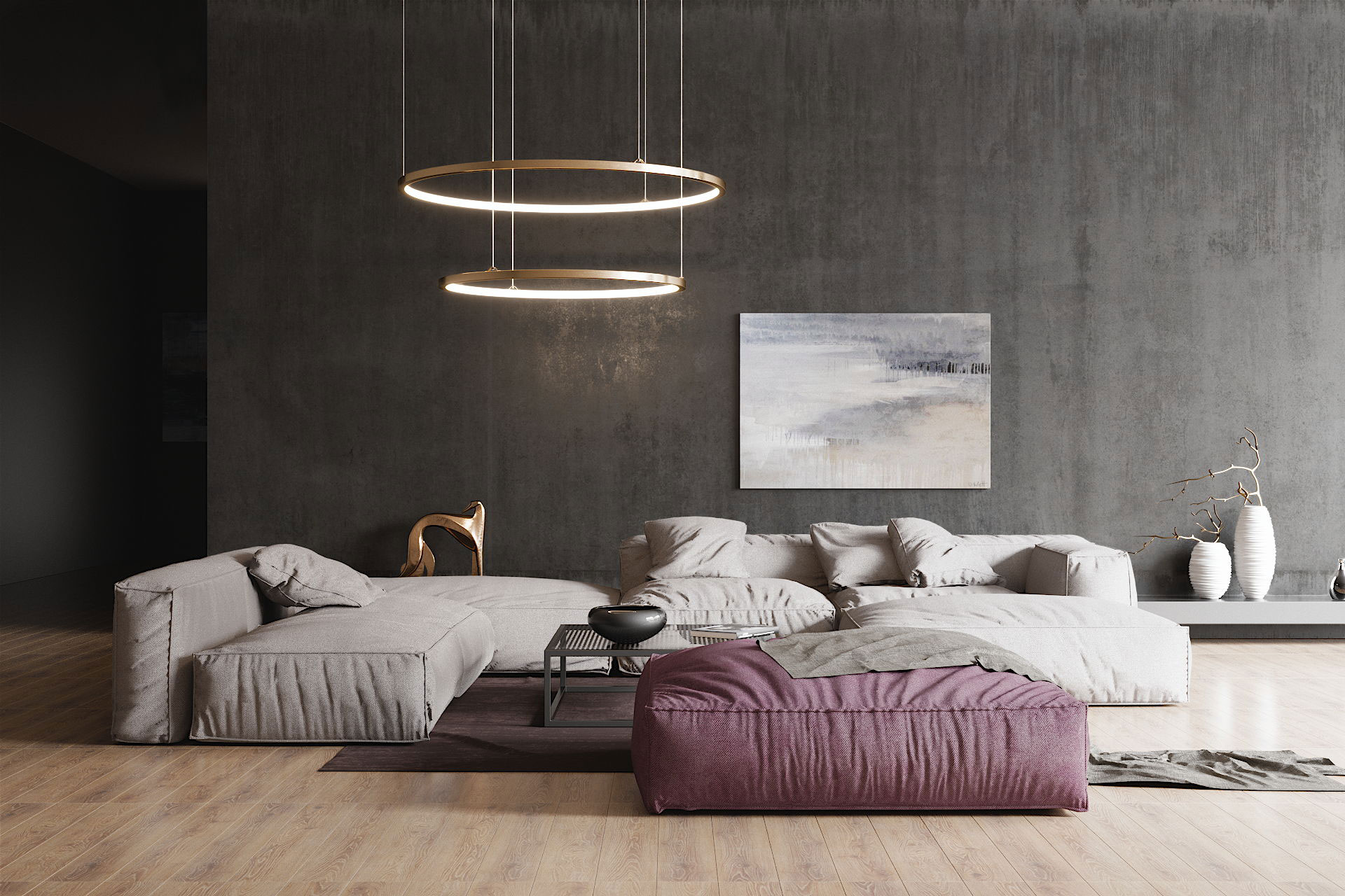 A 3D Model of a Modern Sofa