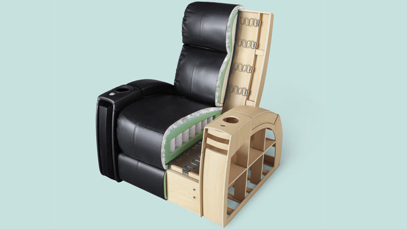 A Cut-Out Shot of an Armchair that Showcases the Design