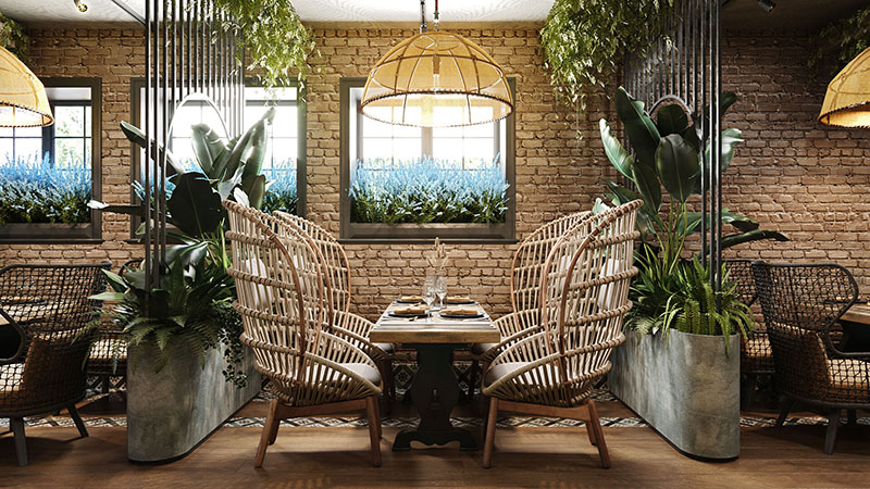 A Lifestyle Shot for a Rattan Furniture Ad