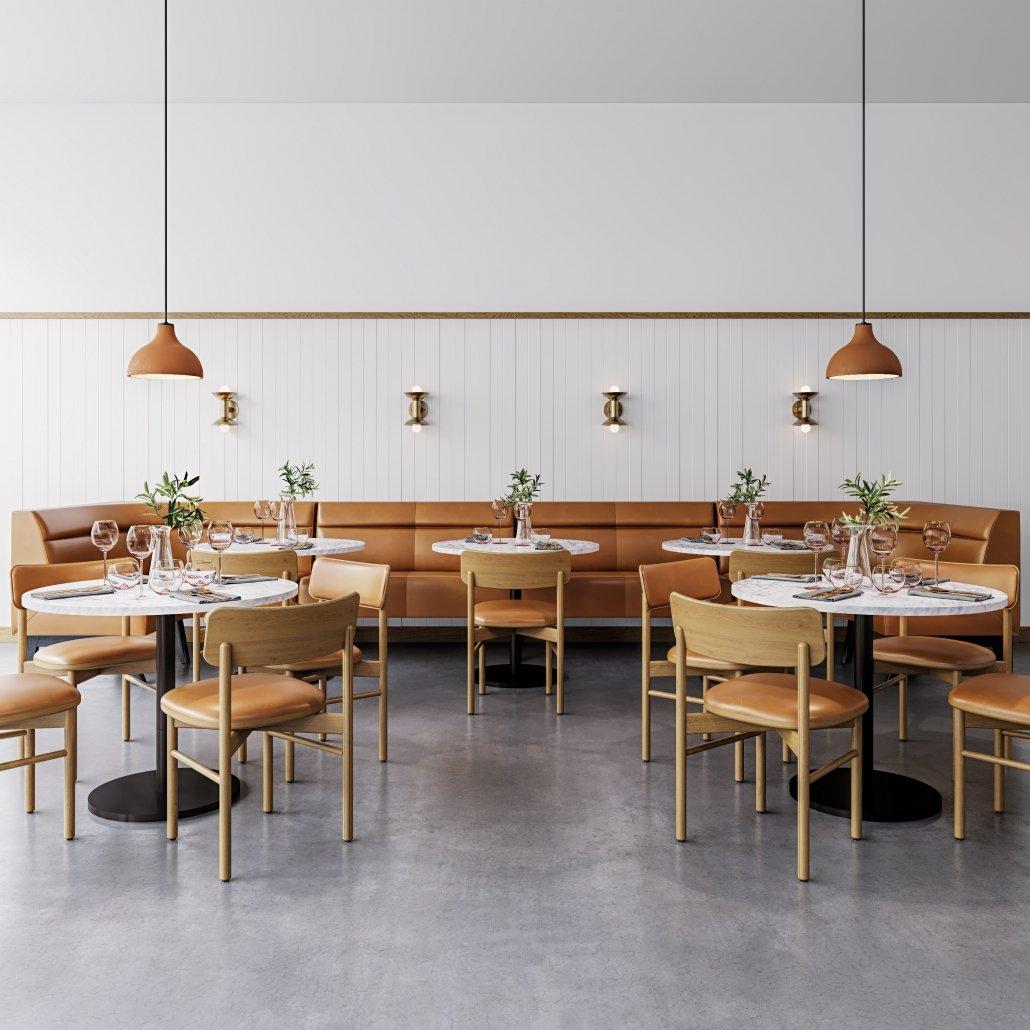 Cafe Furniture 3D Visualization