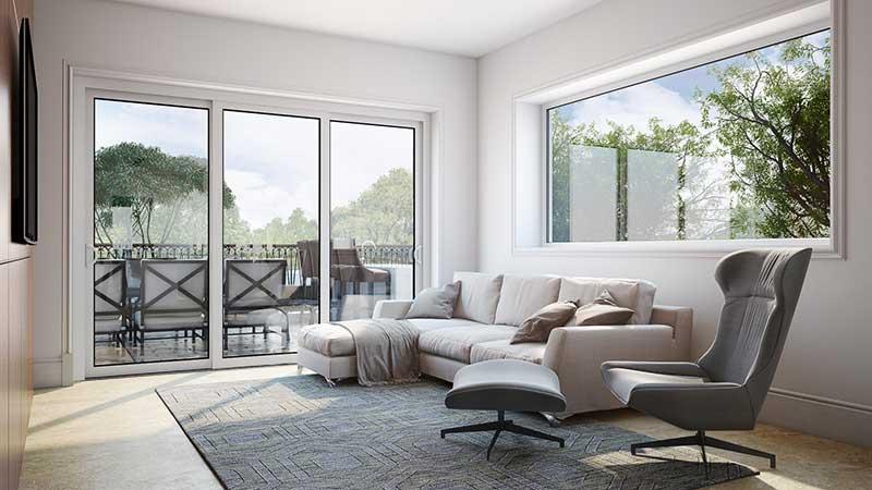 Directional Lighting for a Living Room Furniture Set