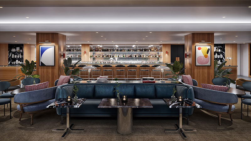A Symmetrical Scene for Cafe Furnishings