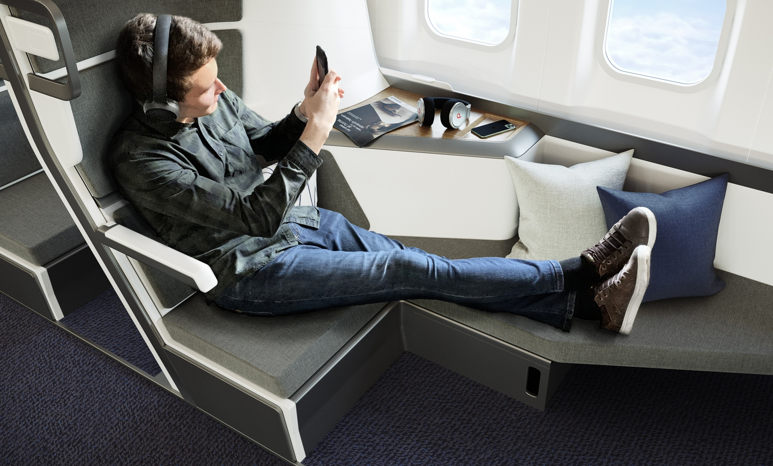 Comfy Airplane Seats 3D Visualization