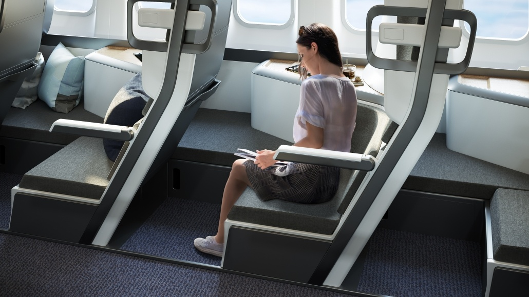 Lifelike Rendering for Lie-Flat Airplane Zephyr Seats