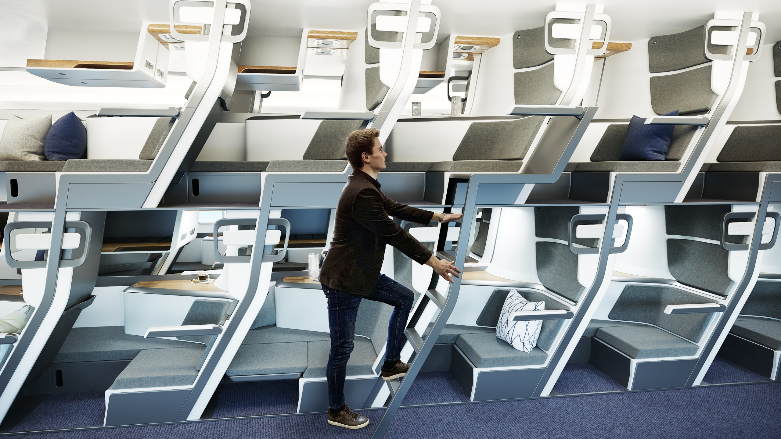 3D Rendering for Innovative Airplane Seats