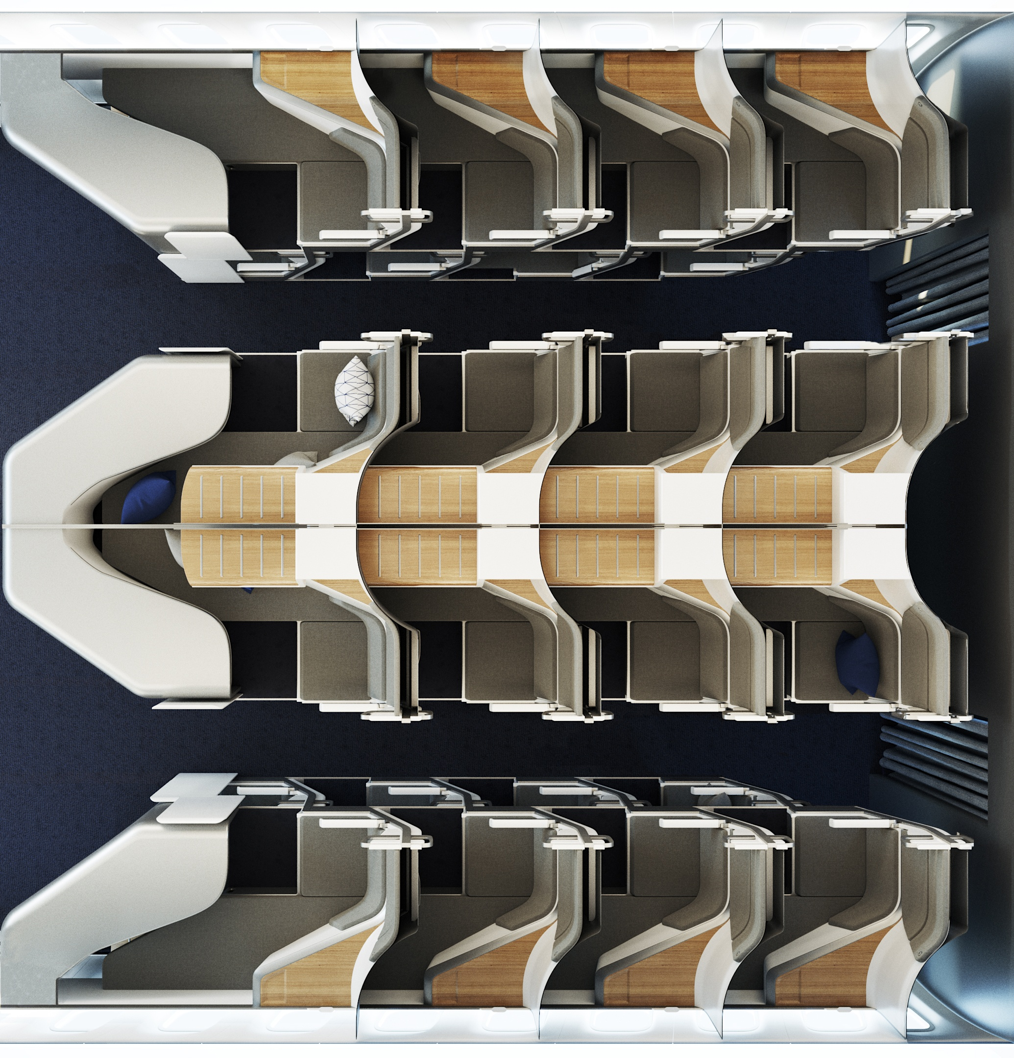 Photorealistic Top View for Airplane Seats