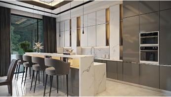 Comfy Kitchen 3D Visualization