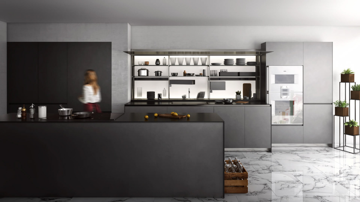 Photoreal Kitchen 3D Rendering