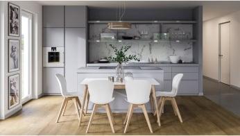 Cozy Kitchen 3D Rendering