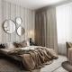 3D Rendering of a Beige Bedroom Set