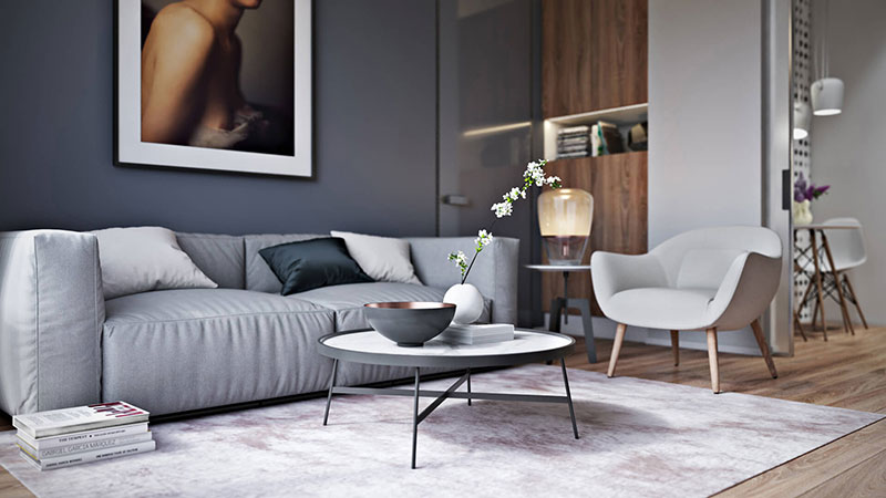 Lifestyle of a Grey-Toned Living Room