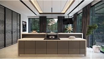 CG Render for a Splendid Kitchen Studio