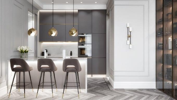 Photoreal Kitchen Design 3D Render
