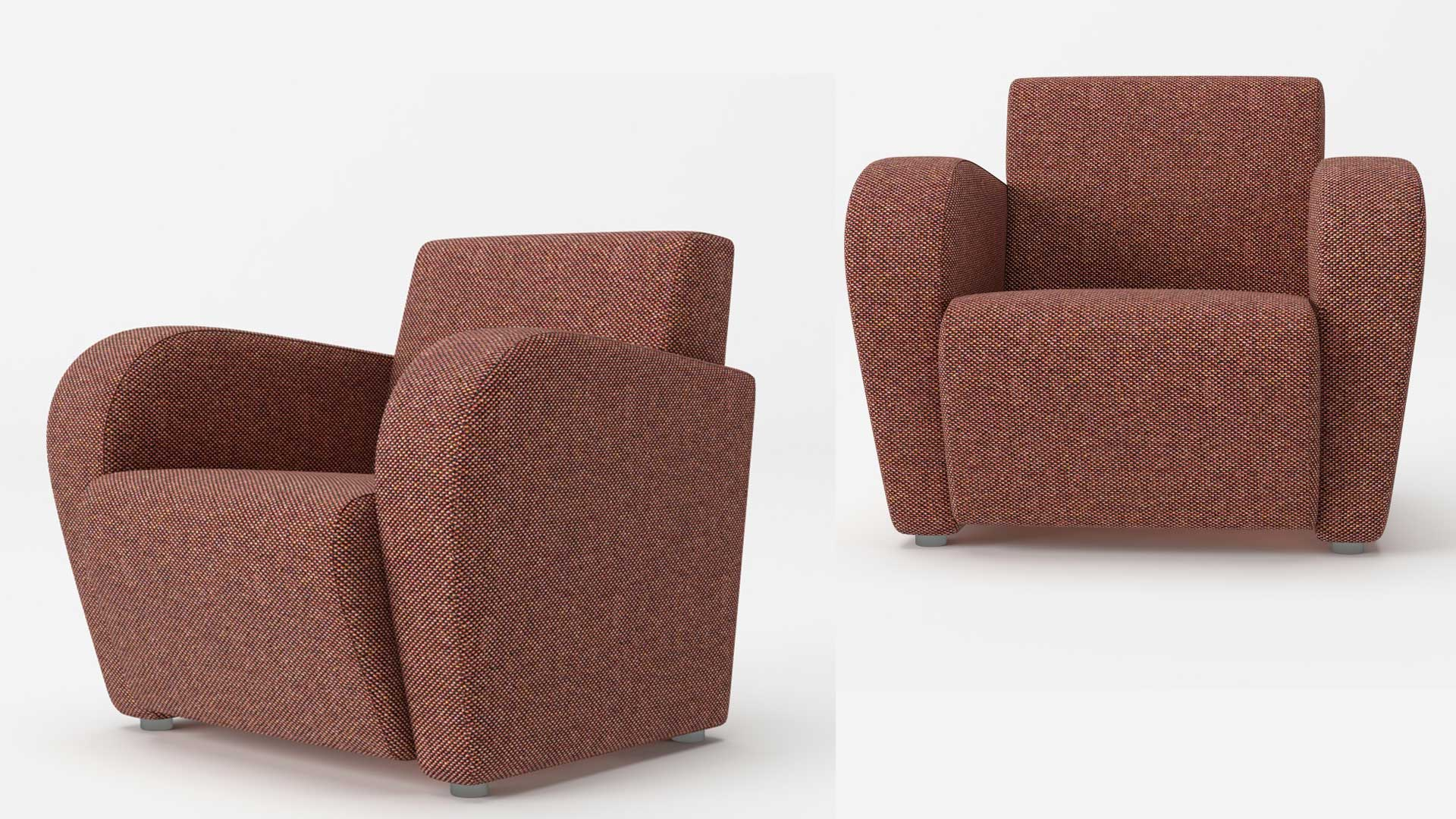 A Product CG Picture of a Pink Armchair