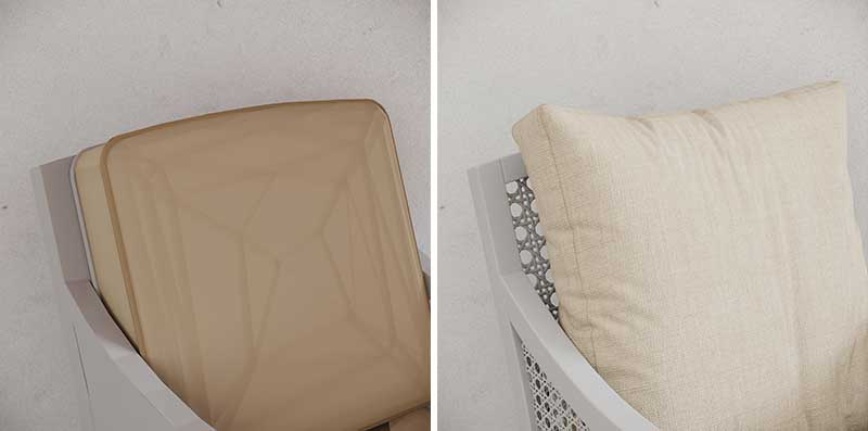 Before and After 3D Model Topology of a Cushion