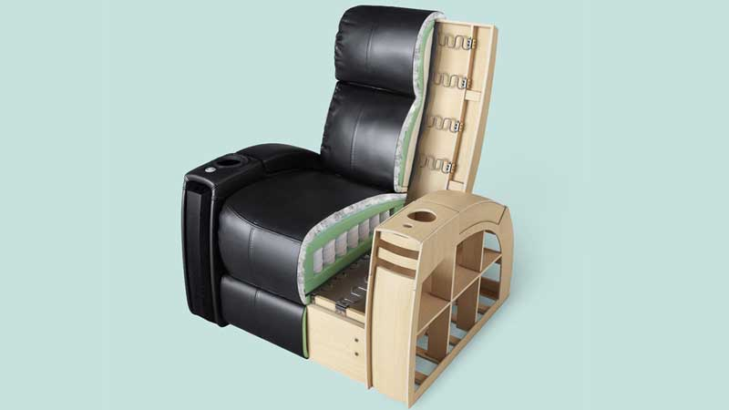 A Cutaway 3D Picture of an Armchair for Amazon