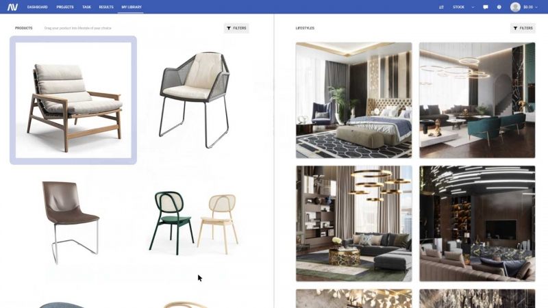 Picking the 3D Furniture Product Model and Matching 3D Roomsets