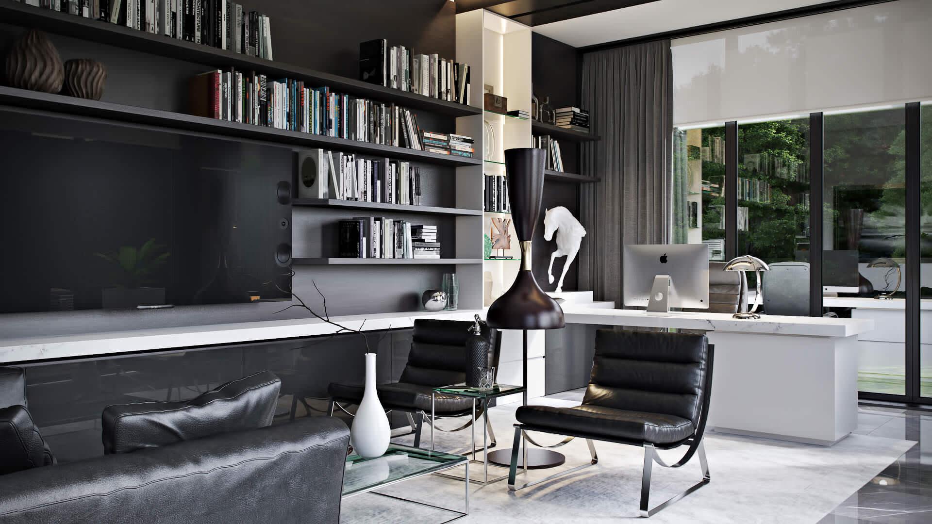 Office Furniture Design 3D Visualization