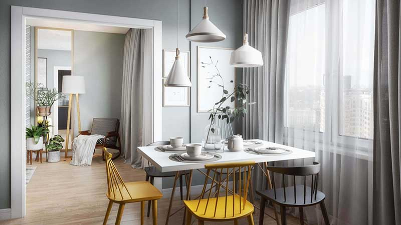 A Product Lifestyle for a Dining Table and Matching Chairs