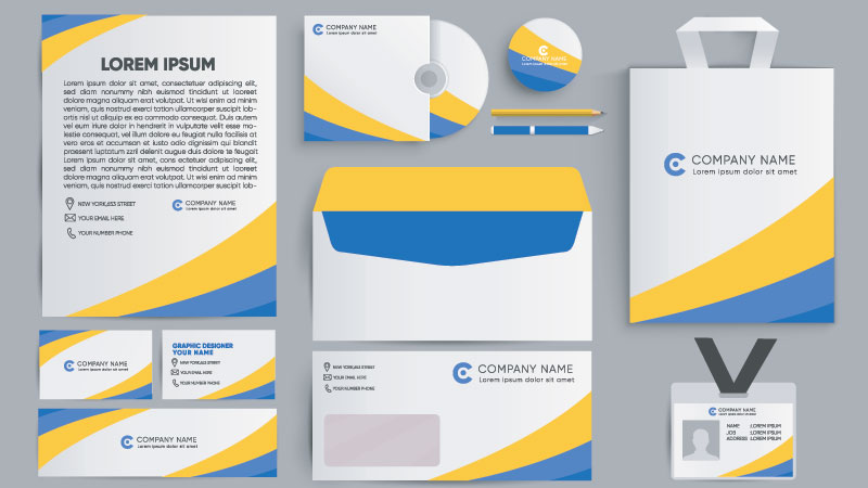 A Bunch of Collateral Items for a Brand Stationery