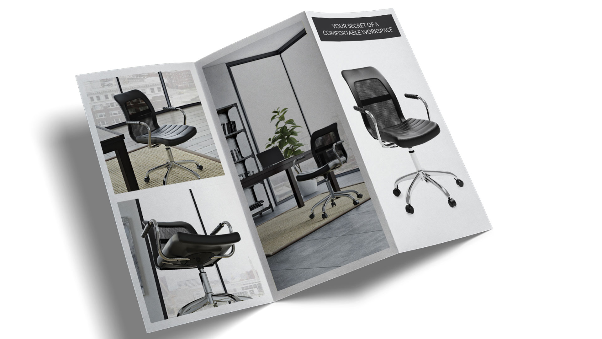 A Collateral Brochure with the Chair Advert